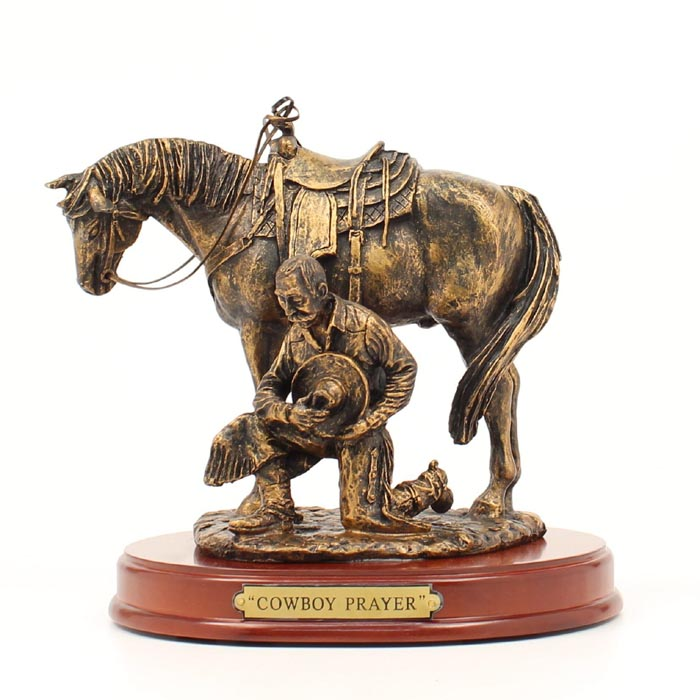 Western Moments Cowboy Prayer Statue