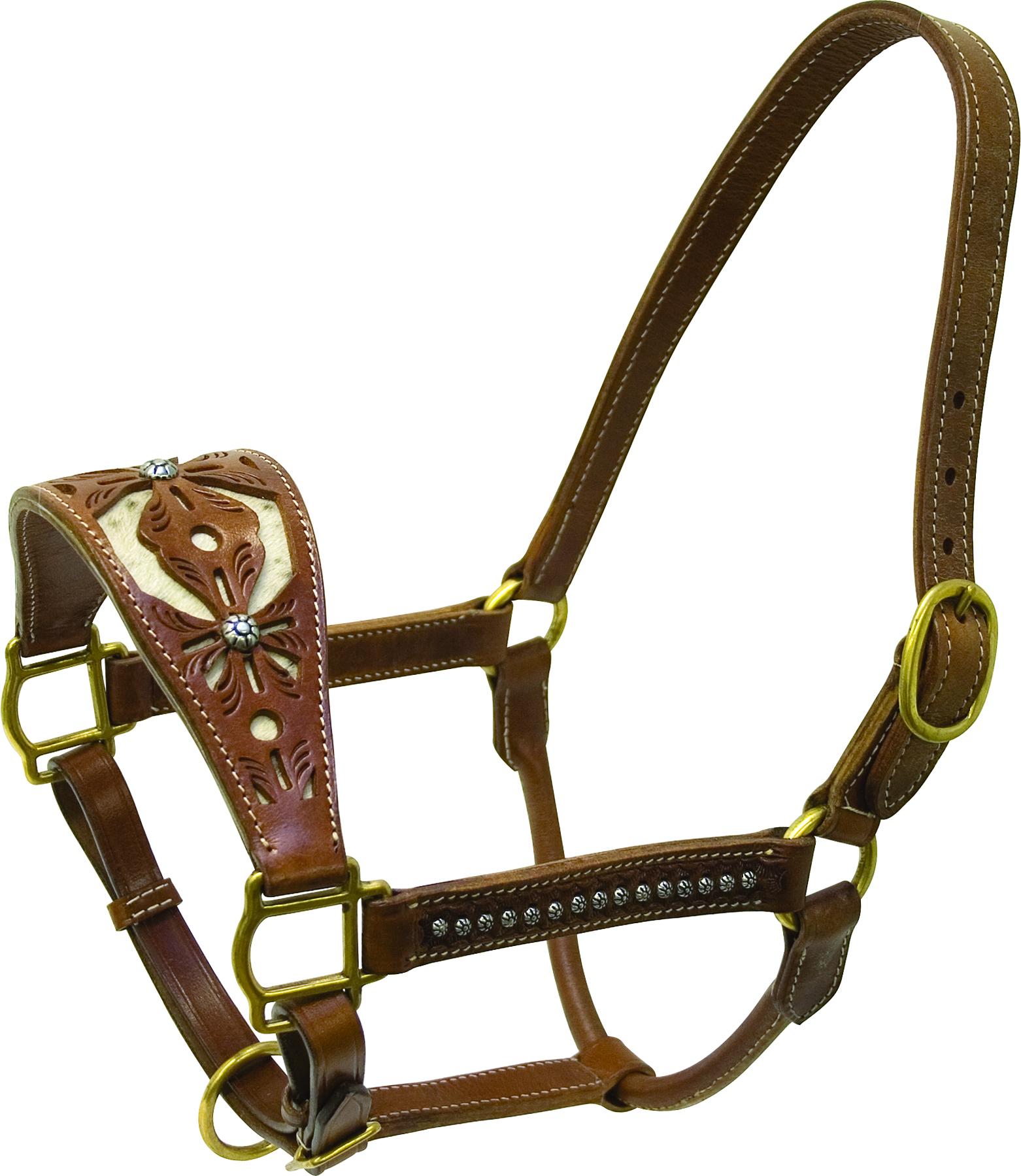 Cowboy Pro Filagree Leather Halter