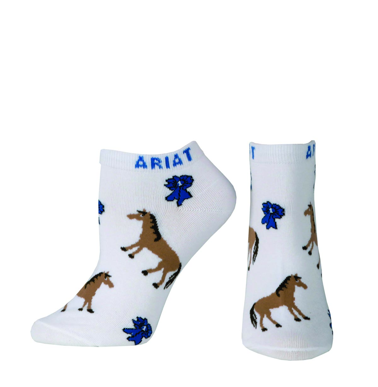 ARIAT Women's Blue Ribbon No Show Sock