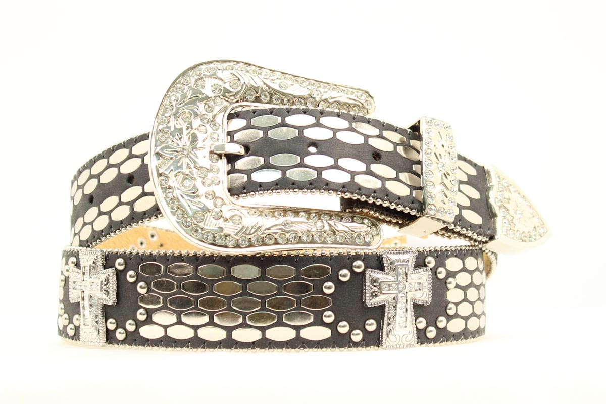ARIAT Flat Belt with Cross Conchos