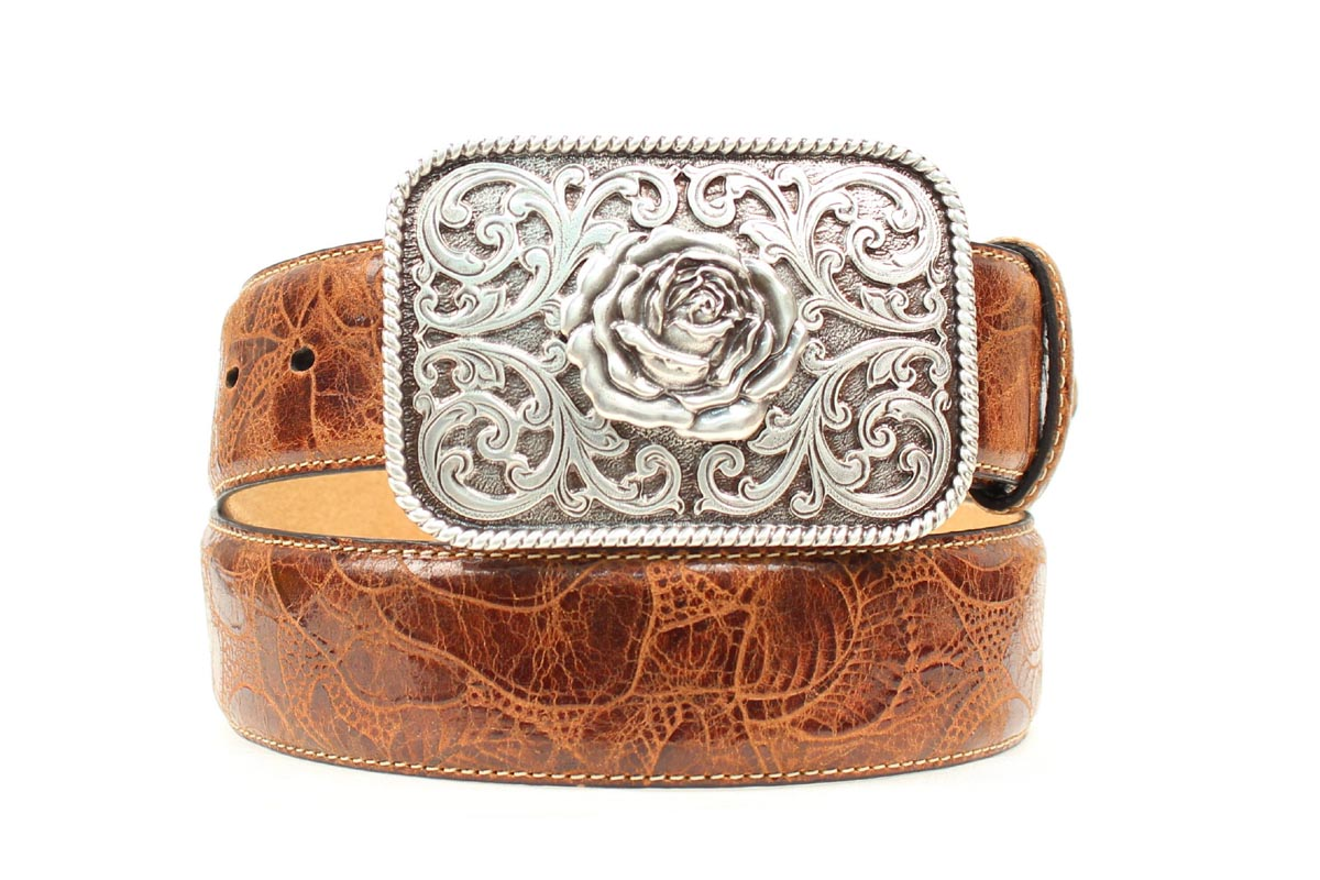 ARIAT Rose Embossed Rose Buckle