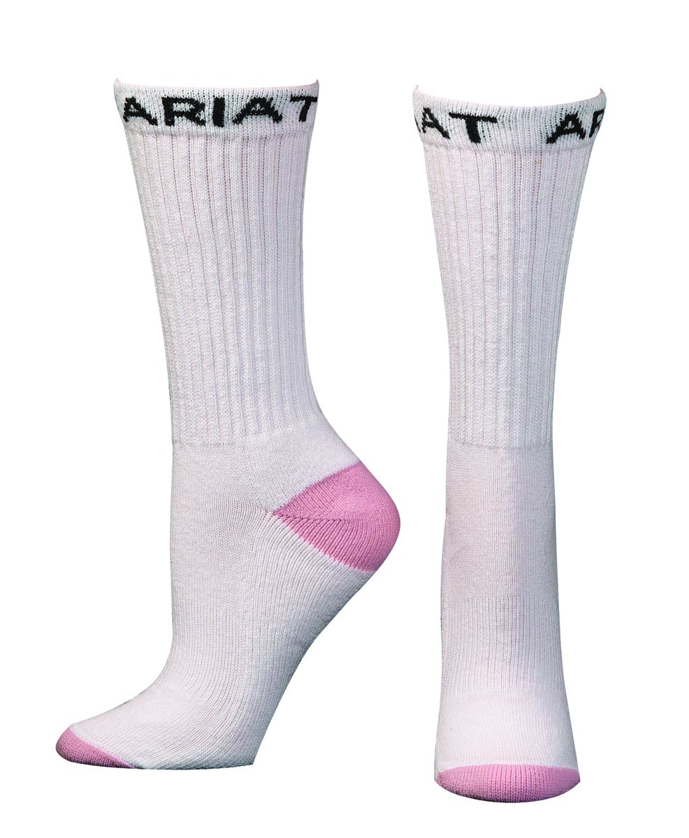 ARIAT Women's Comfort Reinforced Crew Sock, 3 Pack