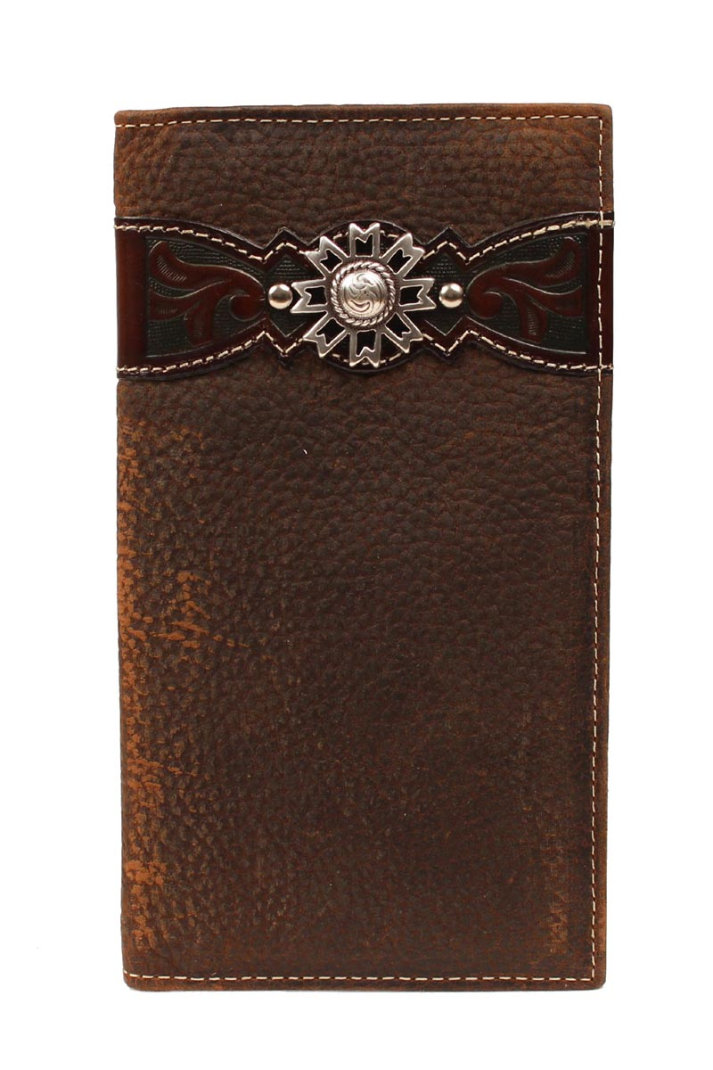 ARIAT Men's Rodeo Wallet with Overlay & Concho