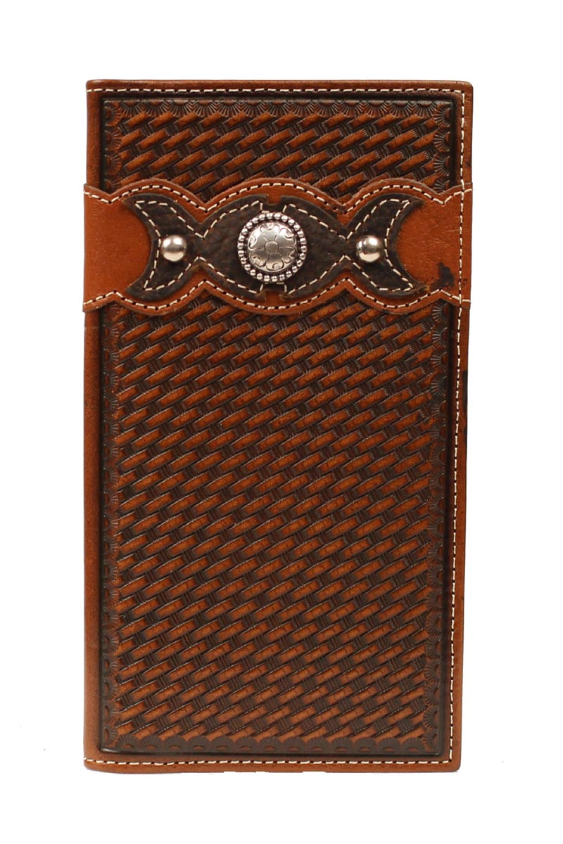 ARIAT Men's Tooled Leather Rodeo Wallet