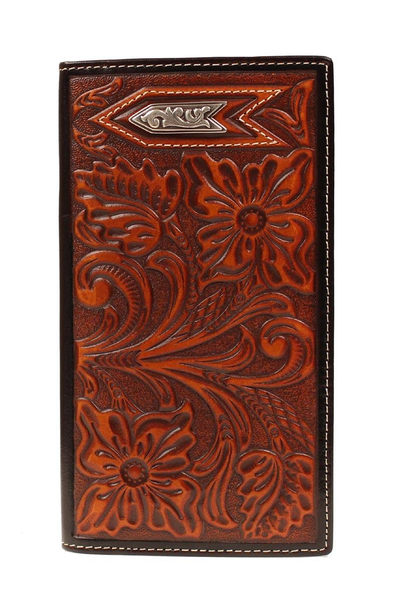 ARIAT Men's Rodeo Floral Tooled Arrow Wallet
