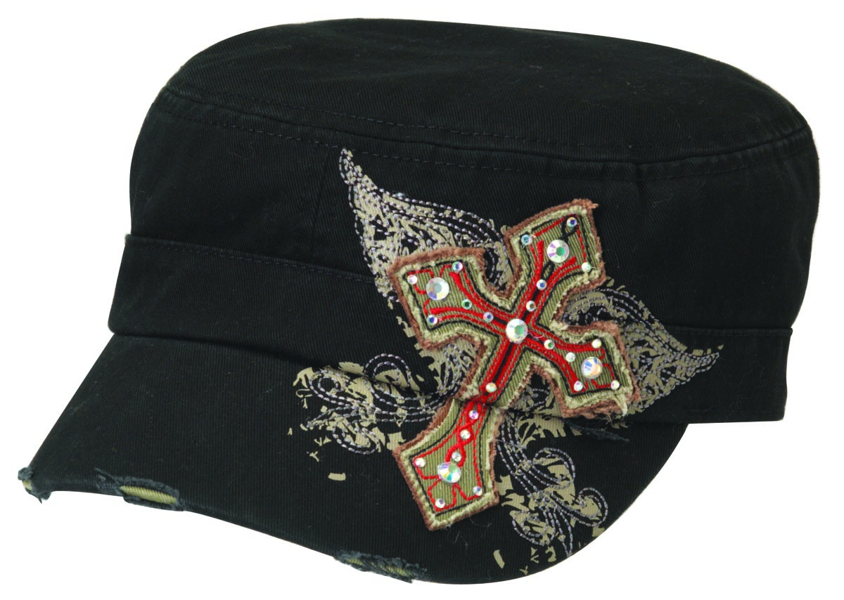 Blazin Roxx Ladies Military Bling Cross Cap