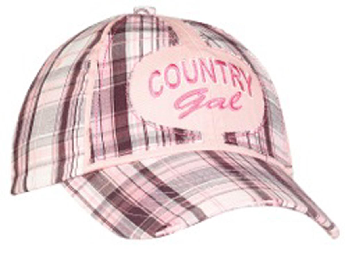 Country Gal Plaid Baseball Cap