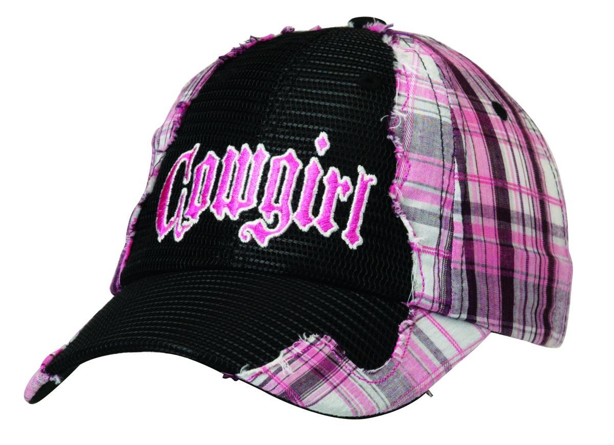 Blazin Roxx Cowgirl Plaid Mesh Front Cap