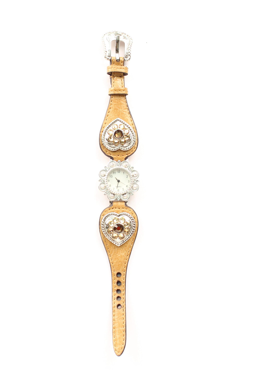 Blazin Roxx Women's Scallop Heart Watch