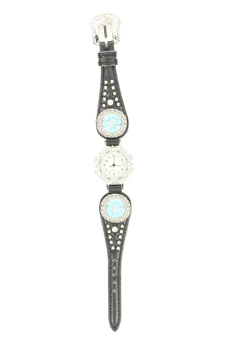 Blazin Roxx Women's Scallop Concho Watch