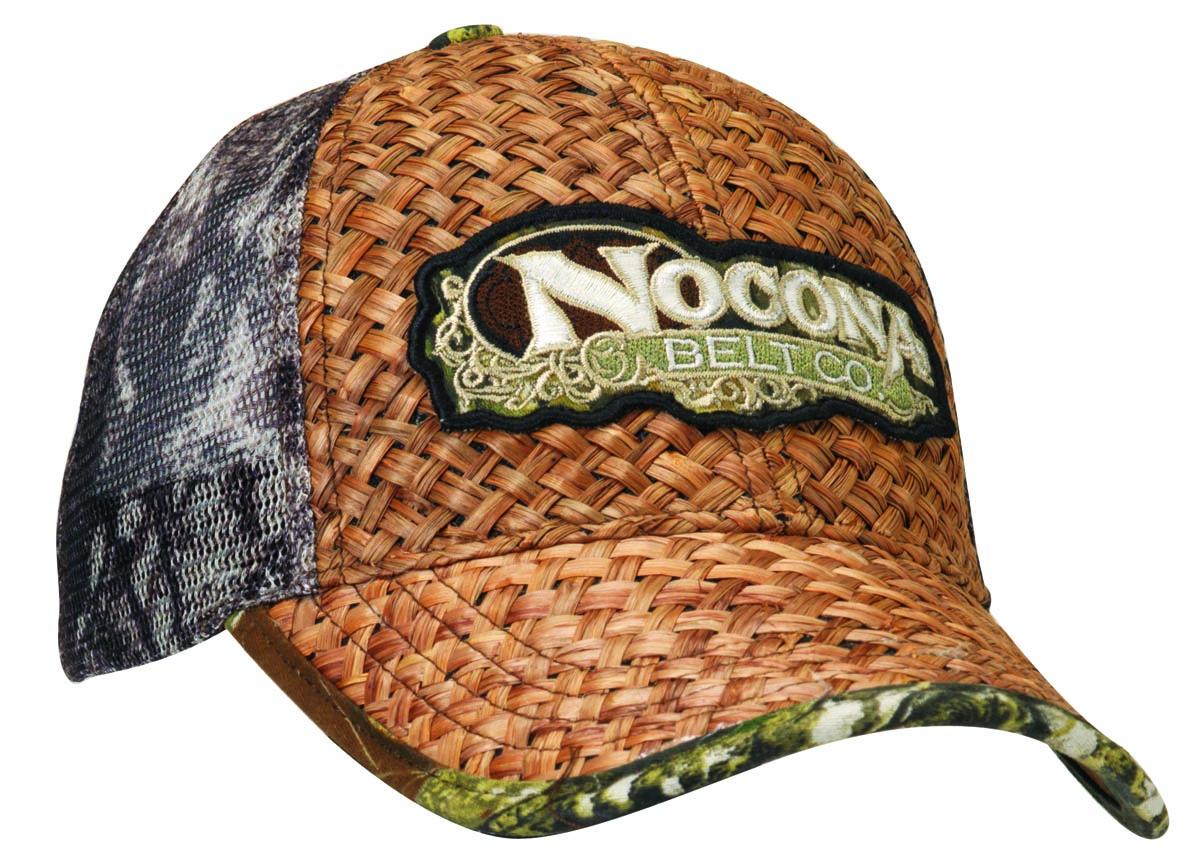 Nocona Raffia Straw/Mesh Back Cap