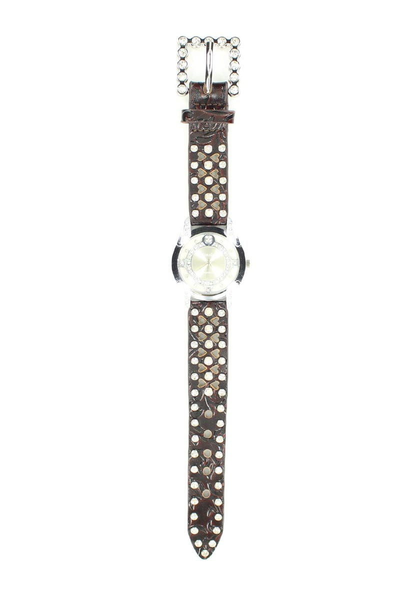 Blazin Roxx Women's Round Crystal Watch