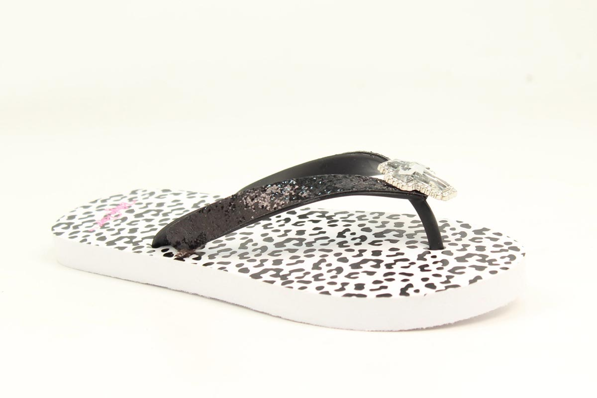 Blazin Roxx Ladies Maddie Snow Leopard Flip Flops