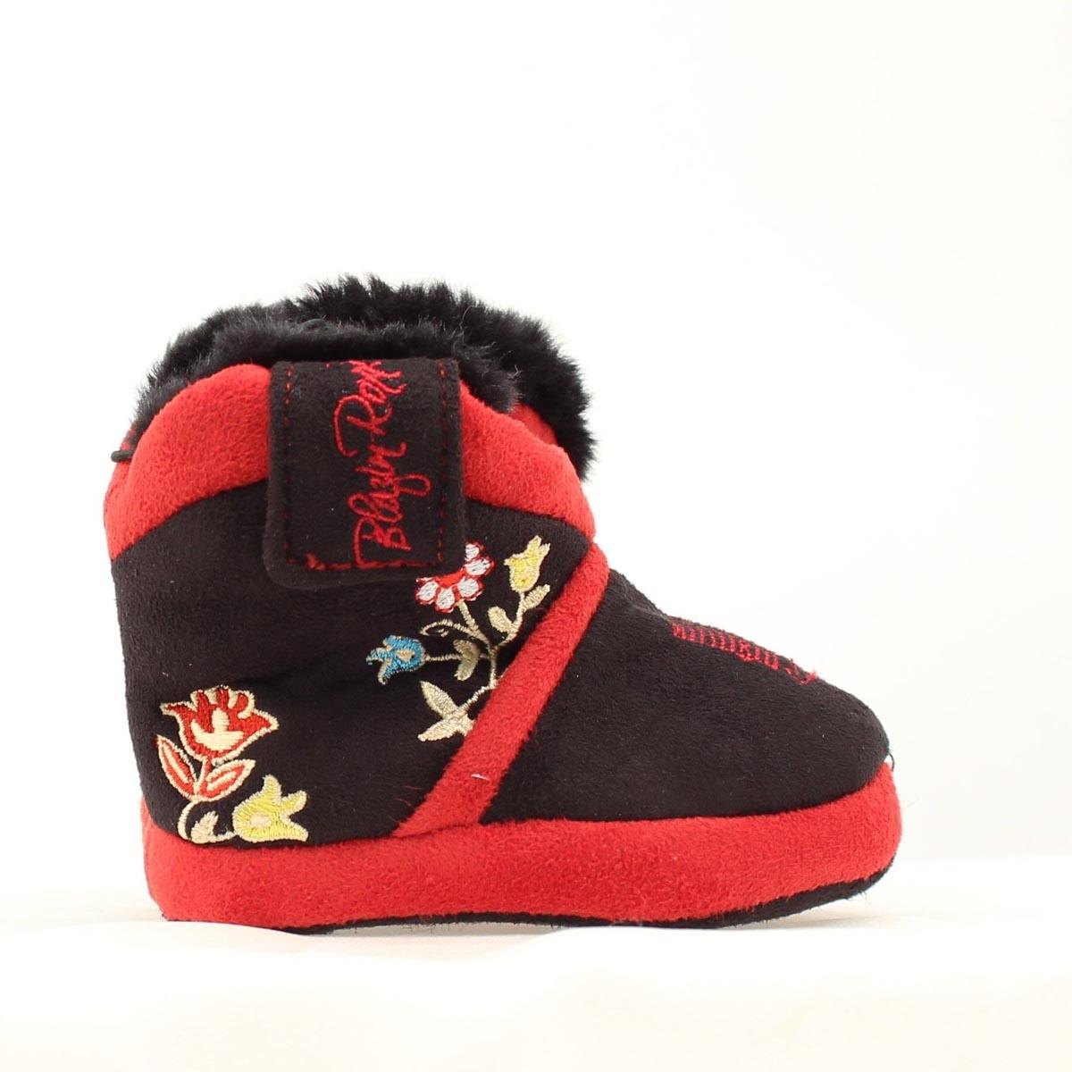 Blazin Roxx Infant Floral Embroidered Slipper