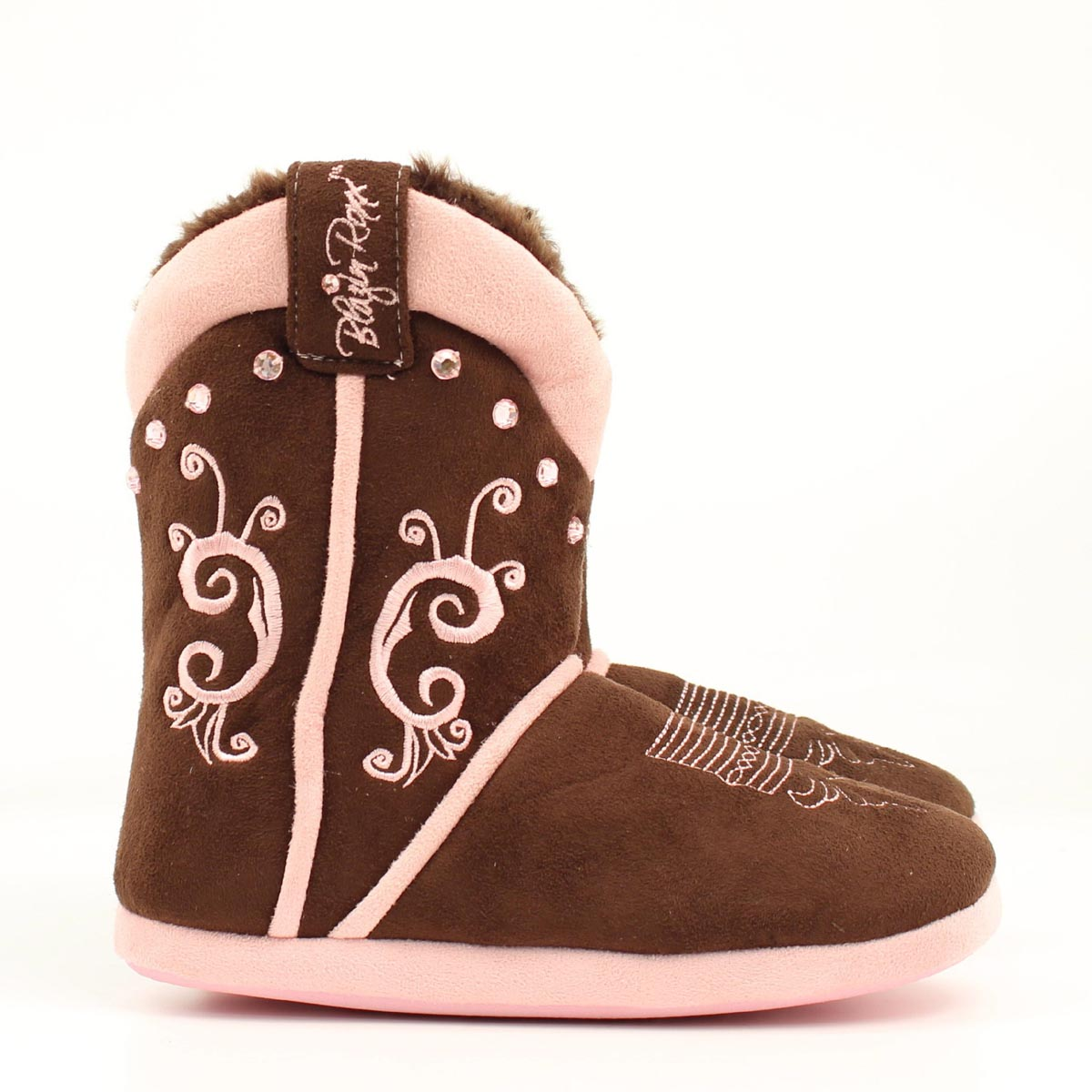 Blazin Roxx Ladies Embroidered Crystal Boot Slipper