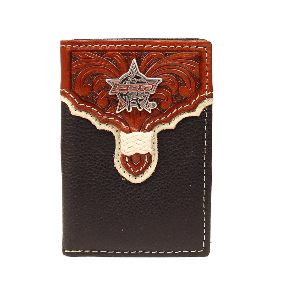 PBR Tri-fold Tooled Overlay Star Wallet