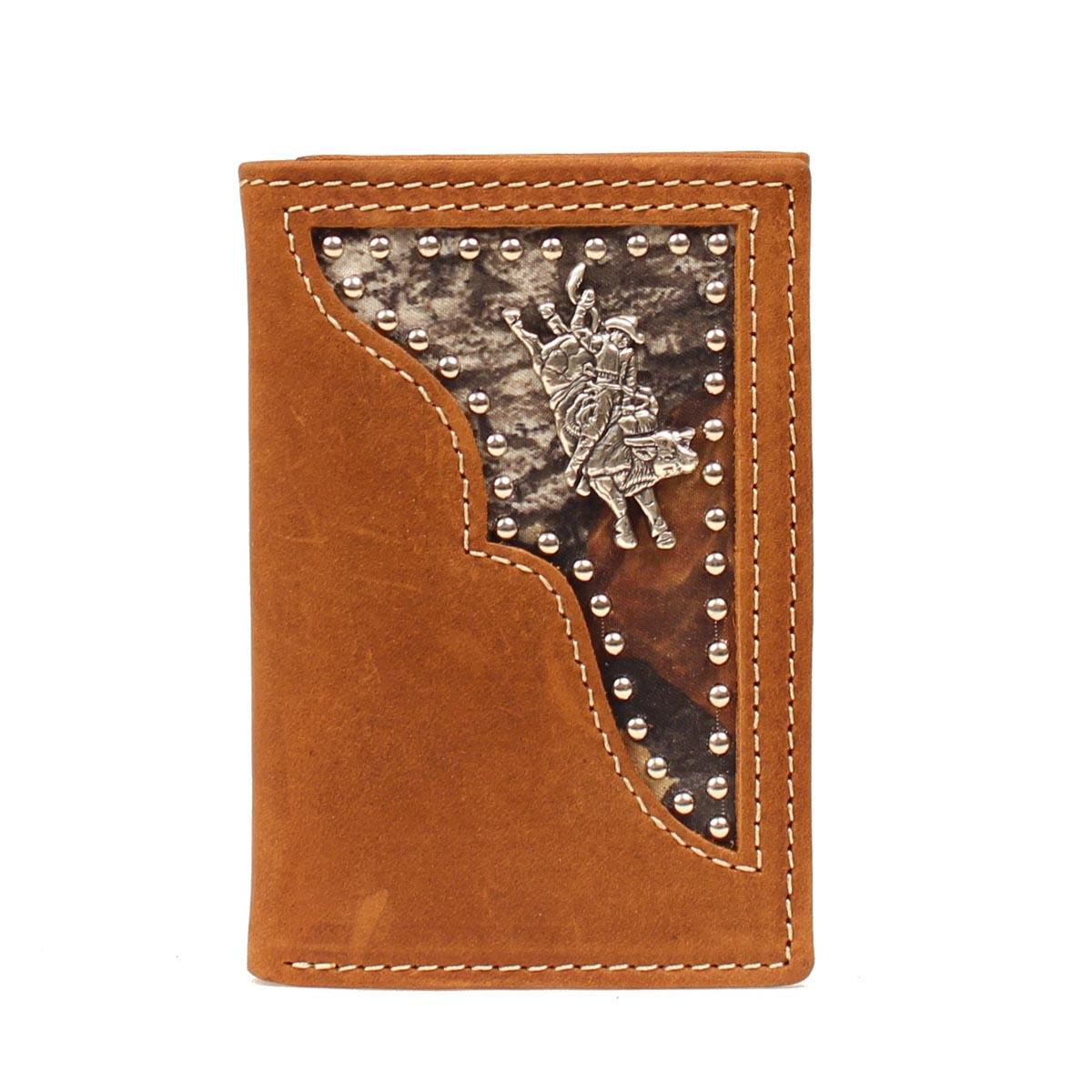 PBR Tri-fold Camo Inlay Bull Rider Wallet