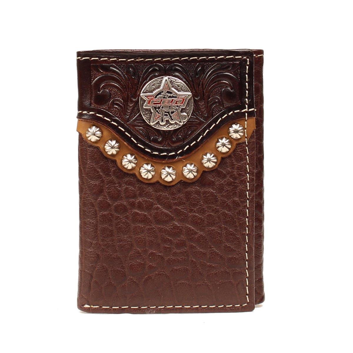 PBR Tri-fold Round Bull Concho Wallet