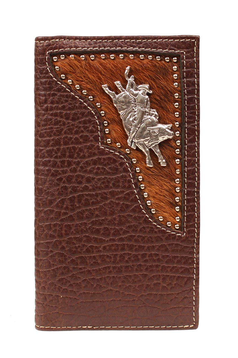 PBR Rodeo Hair Inlay Bull Rider Wallet