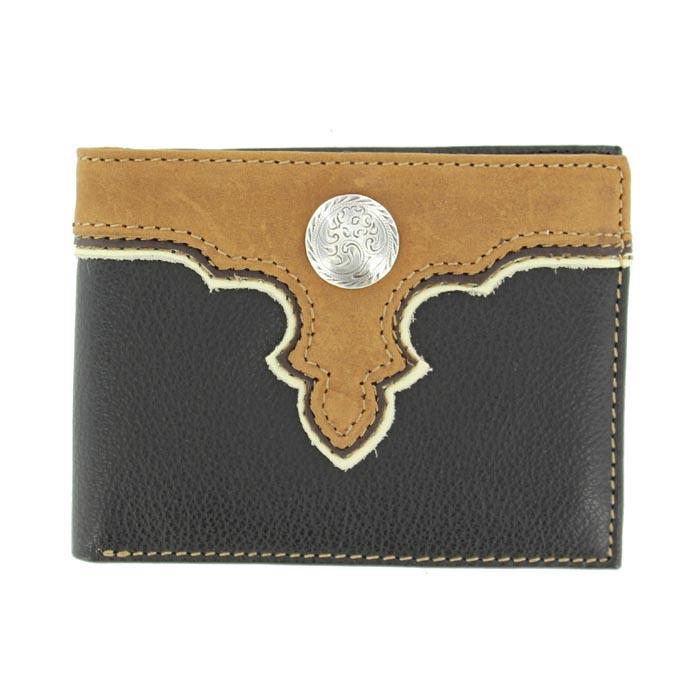 Nocona Nylon Bi-fold Overlay Round Concho Wallet