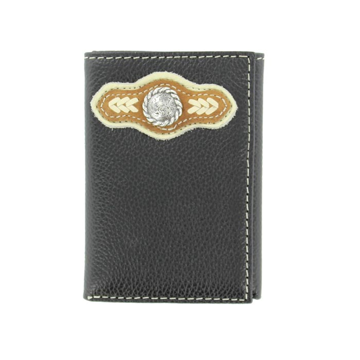 Nocona Nylon Tri-fold Laced Arrow Design Wallet