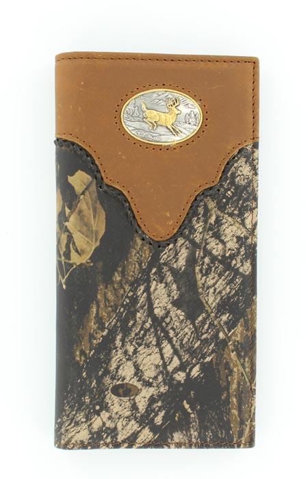 Nocona Pro Rodeo Deer Buck Camo Wallet