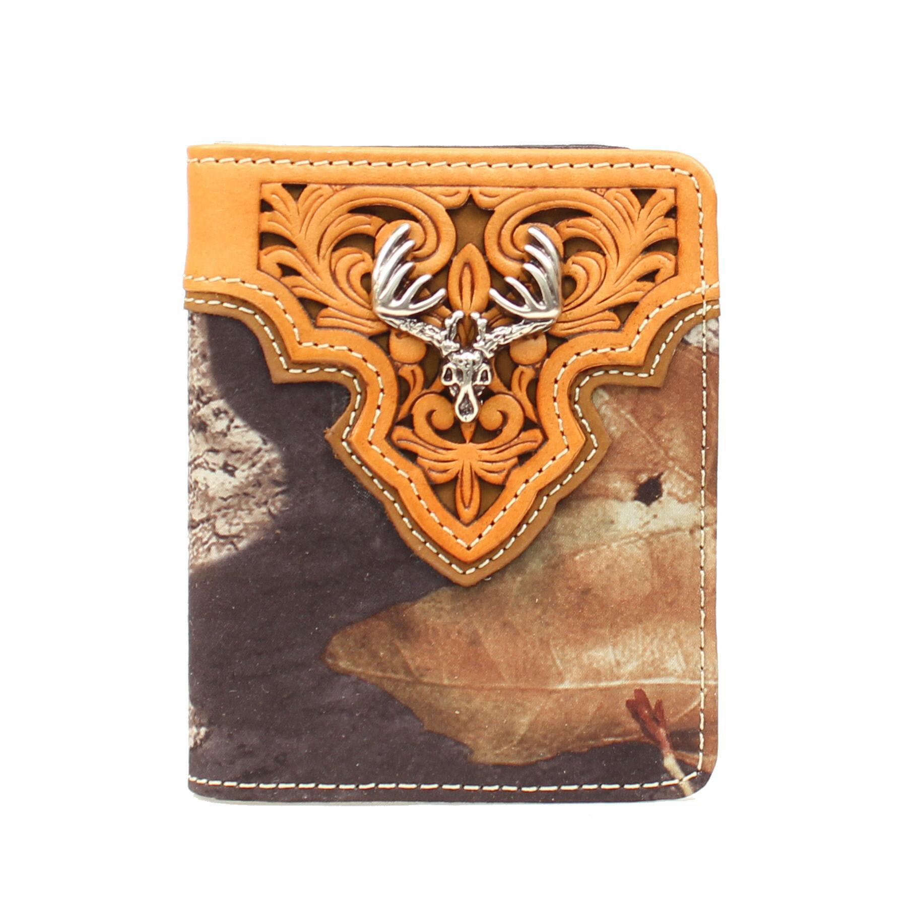 Nocona Bi-fold Deer Skull Camo Wallet