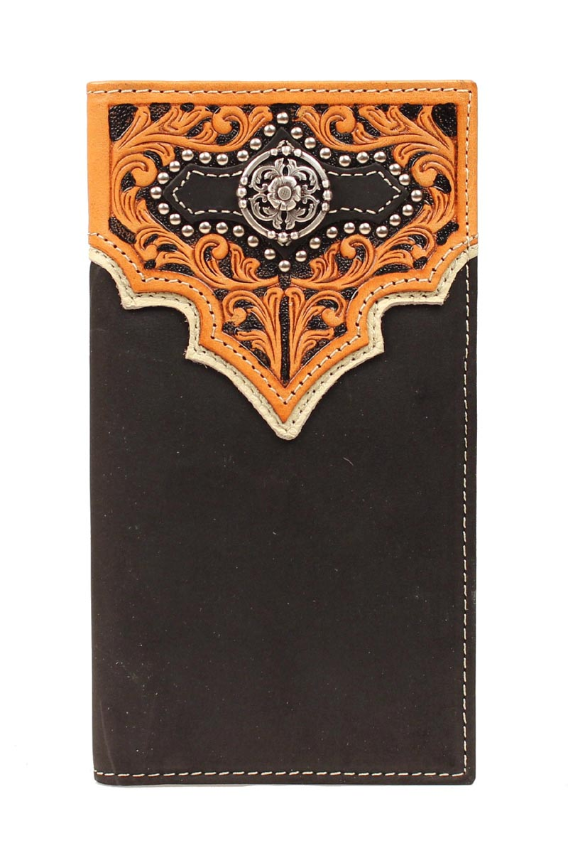 Nocona Rodeo Floral Overlay Bling Wallet