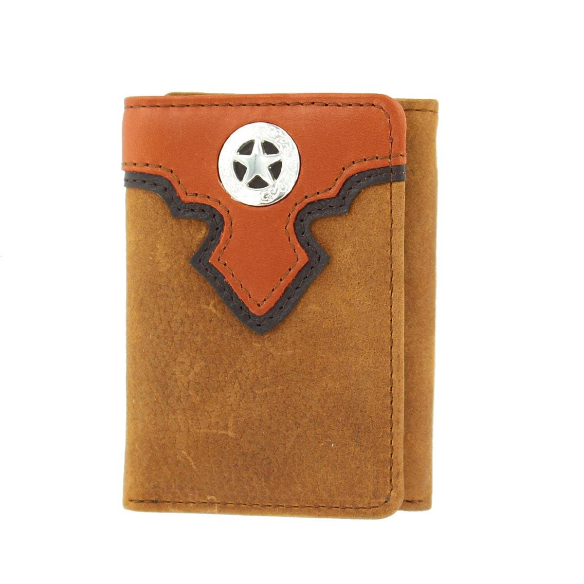 Nocona Tri-fold Layerd Overlay Star Wallet