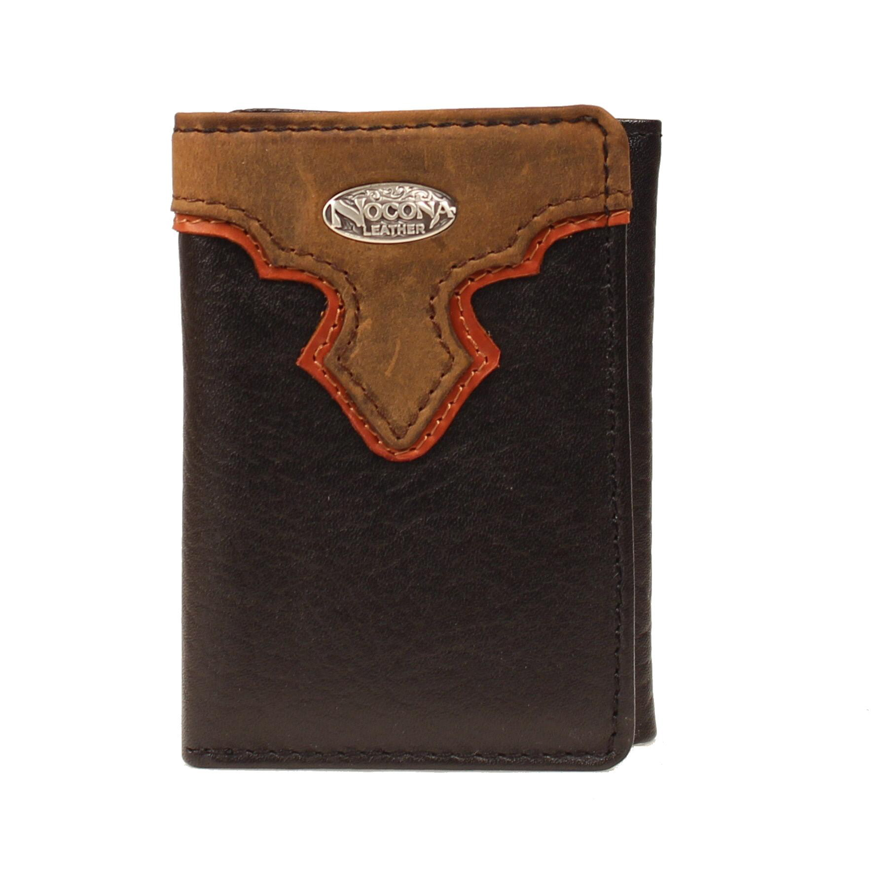 Nocona Tri-fold Western Overlay Concho Wallet