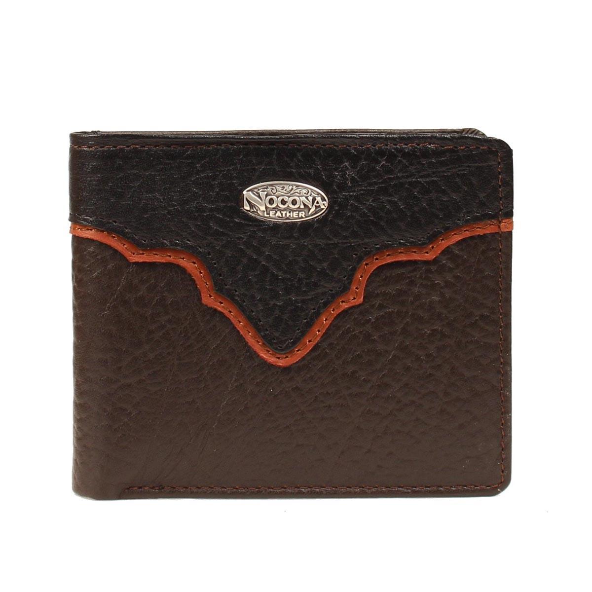 Nocona Bi-fold Western Overlay Concho Wallet