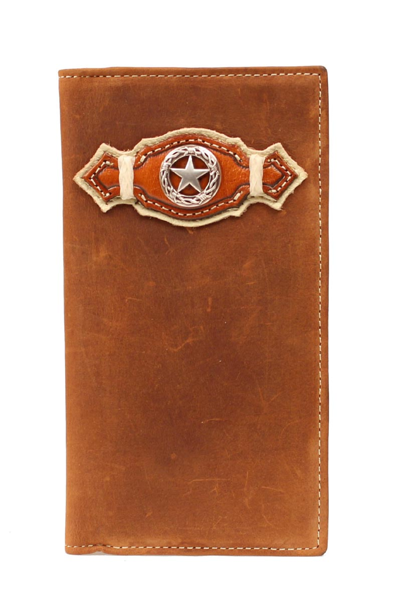 Nocona Rodeo Star Concho Double Ribbon Wallet