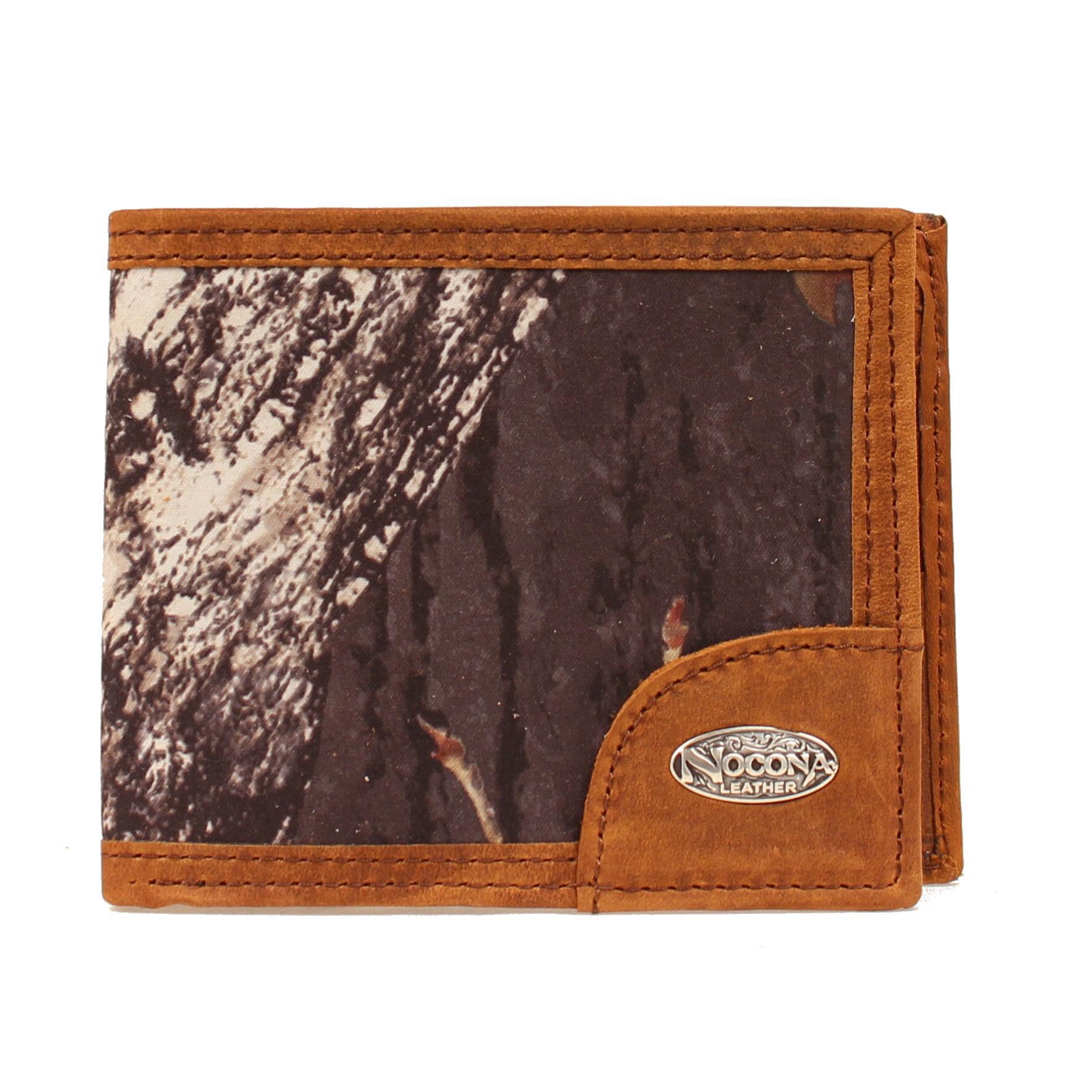 Nocona Slim Bi-fold Camo & Logo Concho Wallet