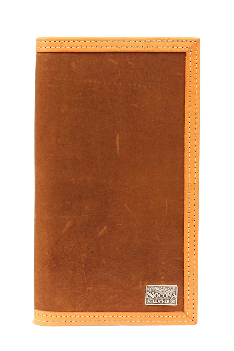 Nocona Smooth Leather Checkbook Wallet