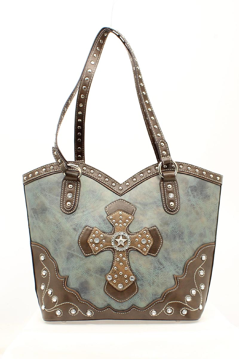 Blazin Roxx Boot Top Cross/Star Handbag