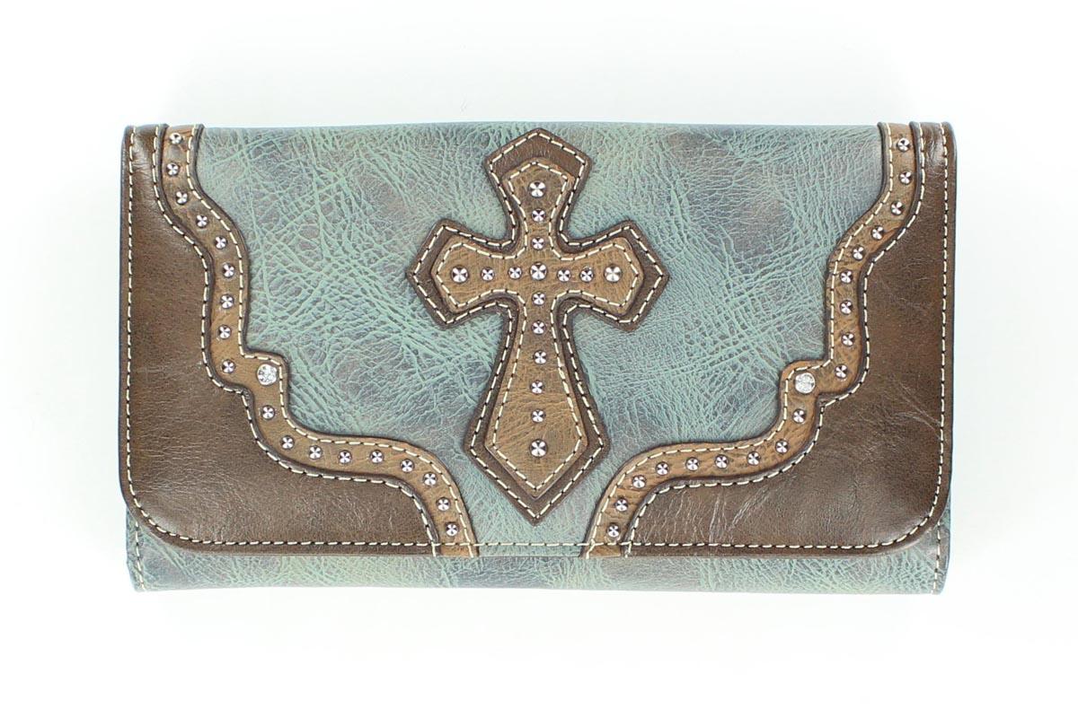 Blazin Roxx Cross/Star Concho Wallet