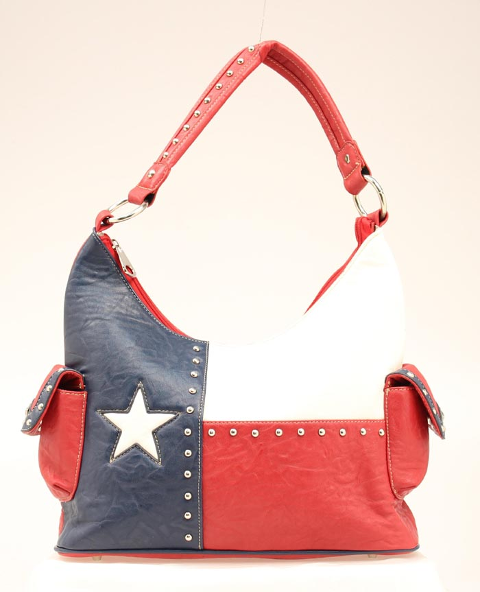Blazin Roxx Bucket Texas Flag Handbag