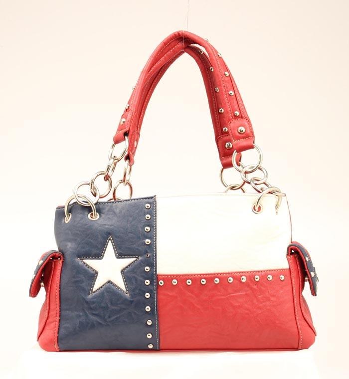 Blazin Roxx Texas Flag Satchel