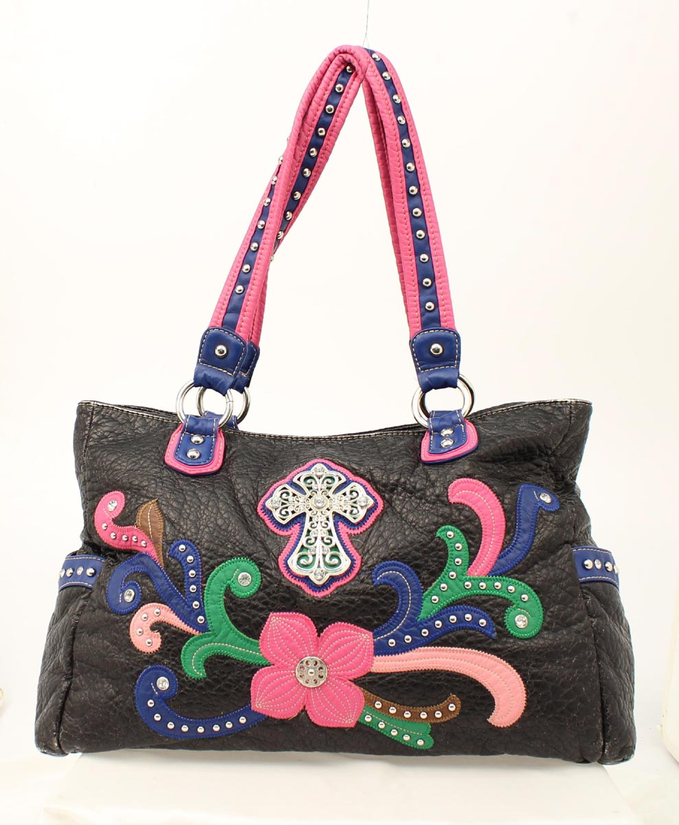 Blazin Roxx Cross Flower Shoulder Bag