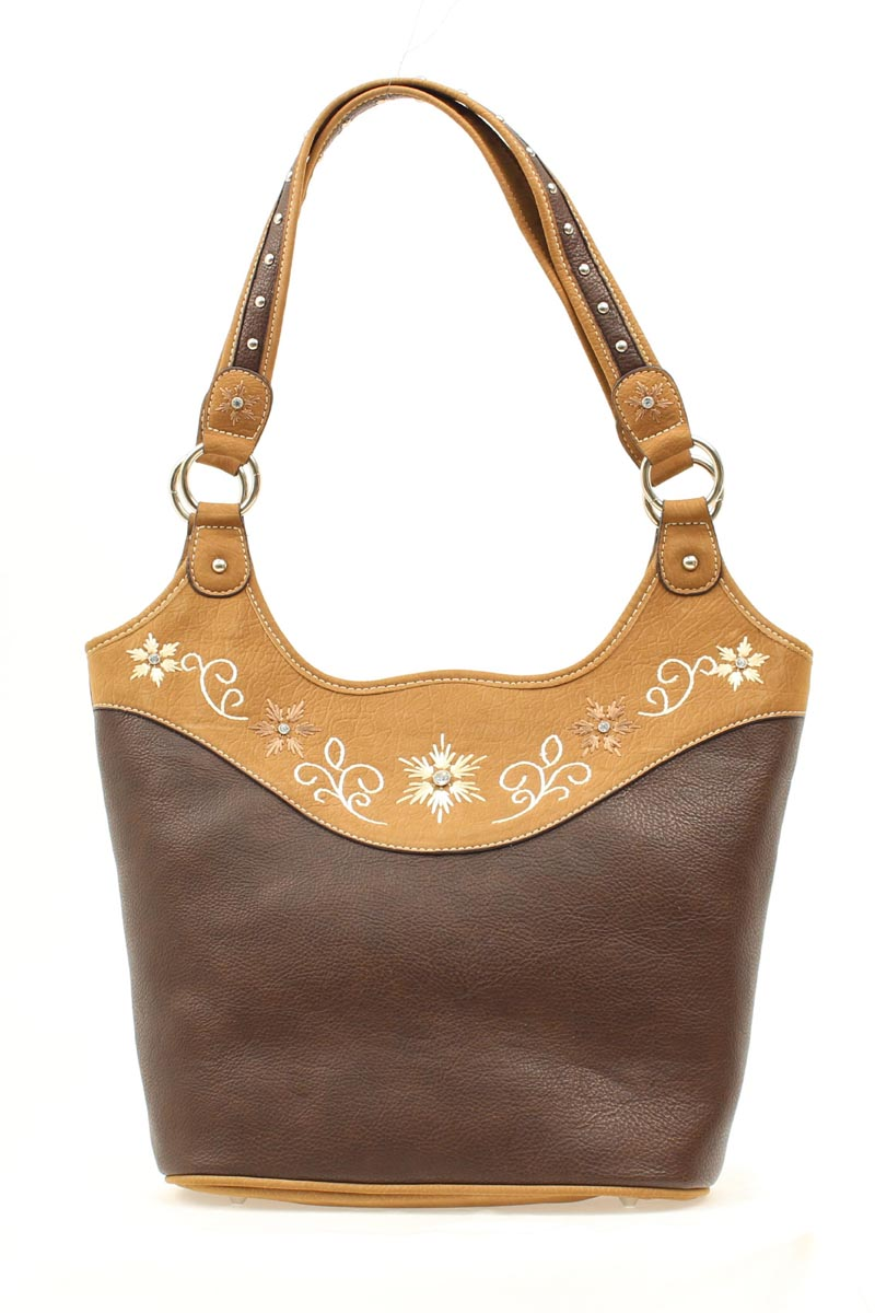 Blazin Roxx Bucket Embroidred Floral Handbag