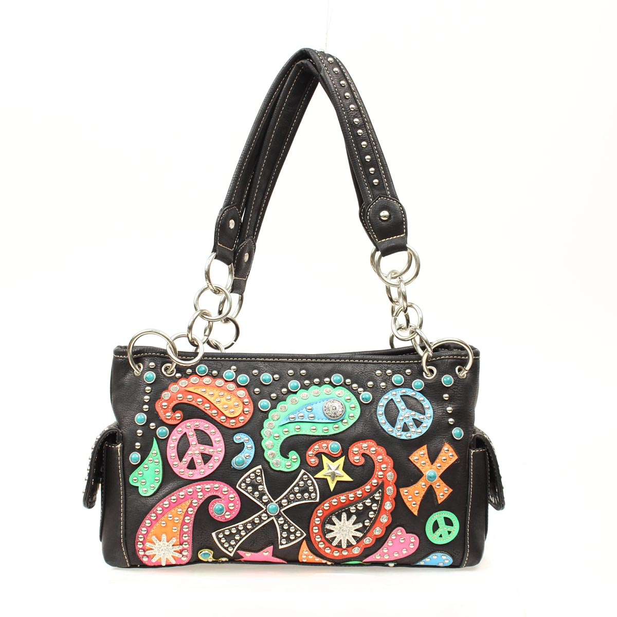 Blazin Roxx Bucket Paisley Peace Shoulder Bag