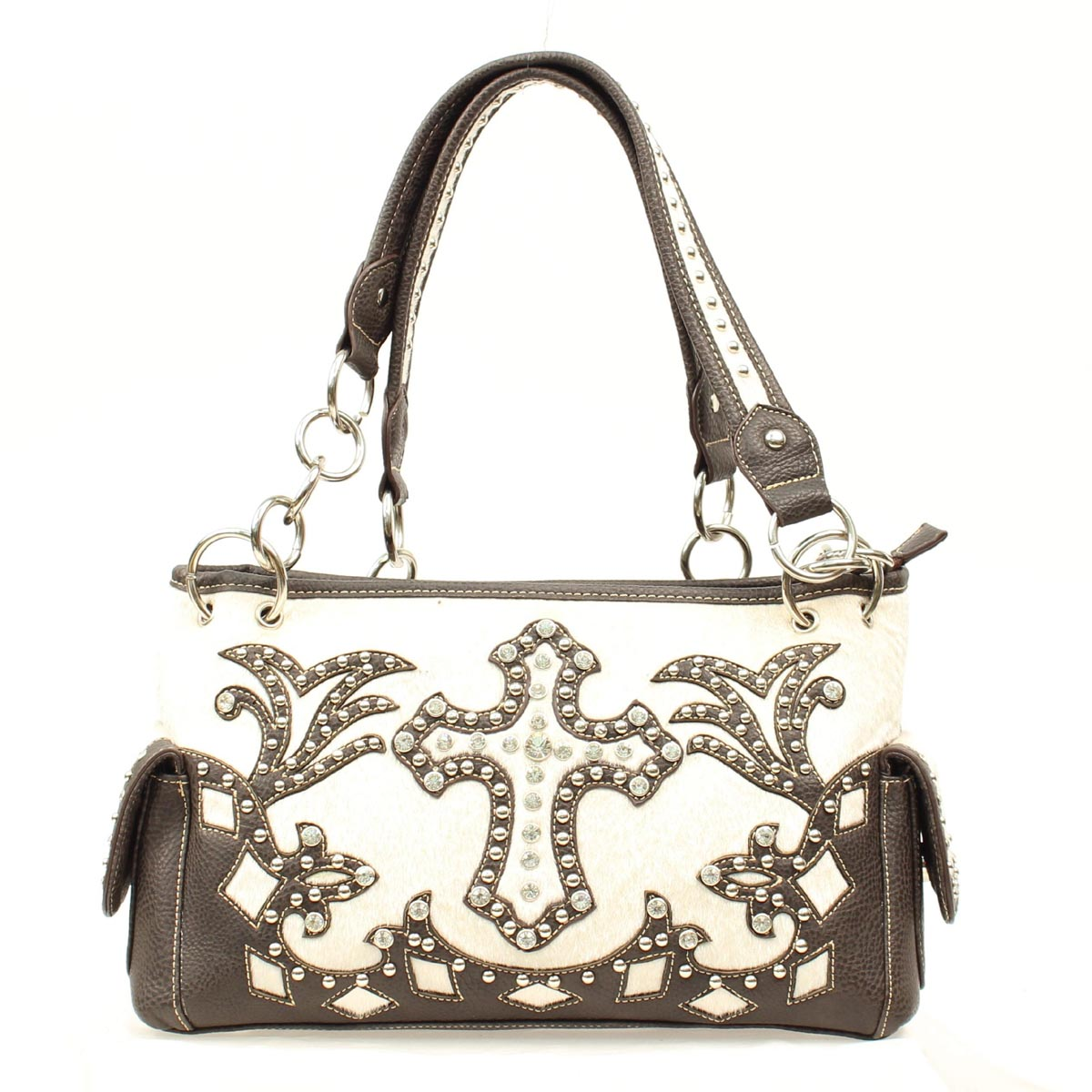 Blazin Roxx Cross Bling Satchel Handbag