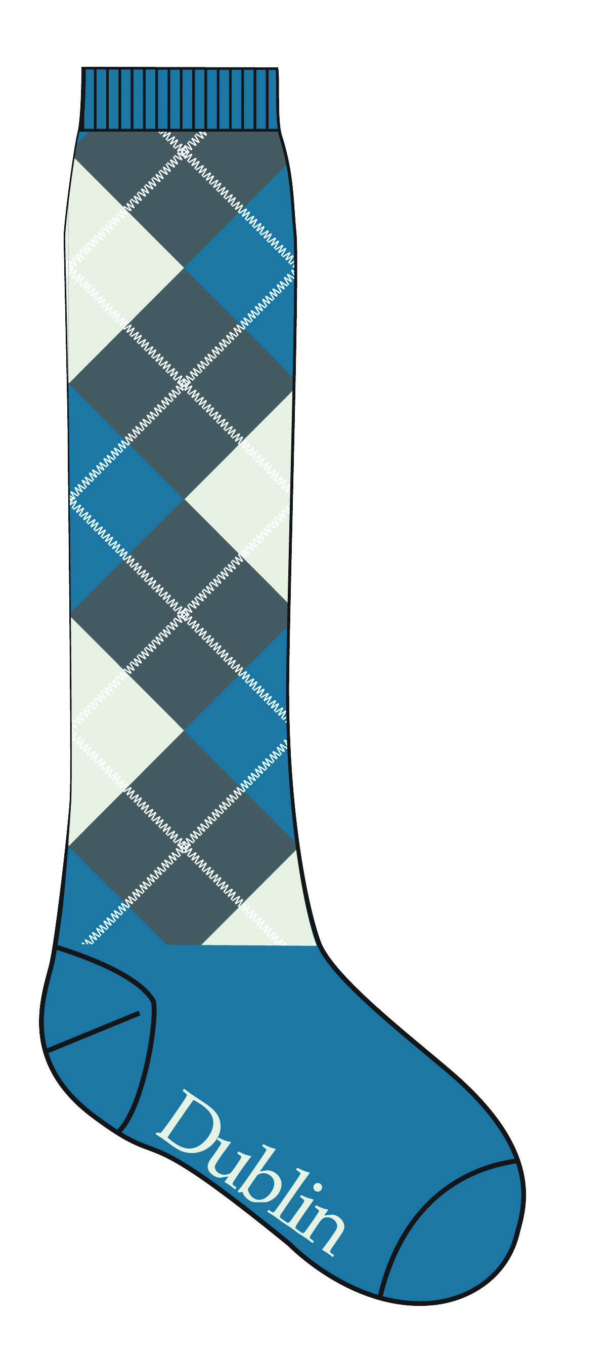 Dublin Argyle Ladies' Socks