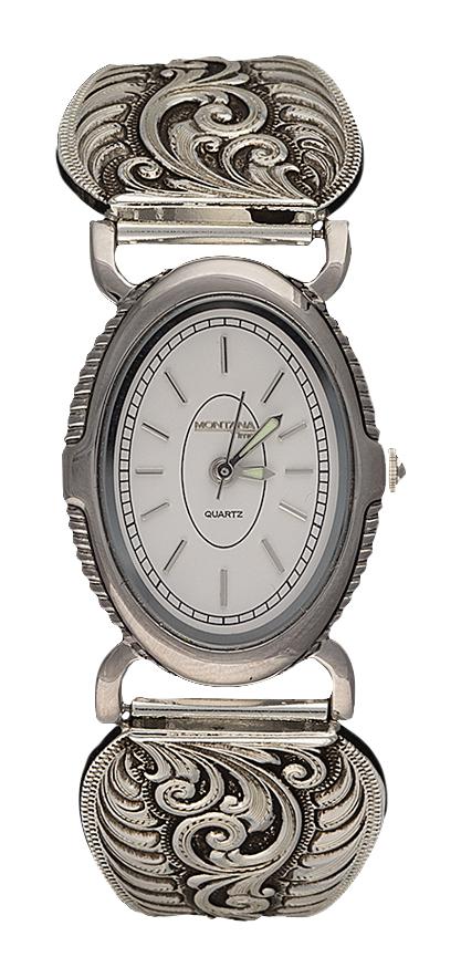 Montana Silversmiths Antiqued Filigree Ladies Expansion Band Watch