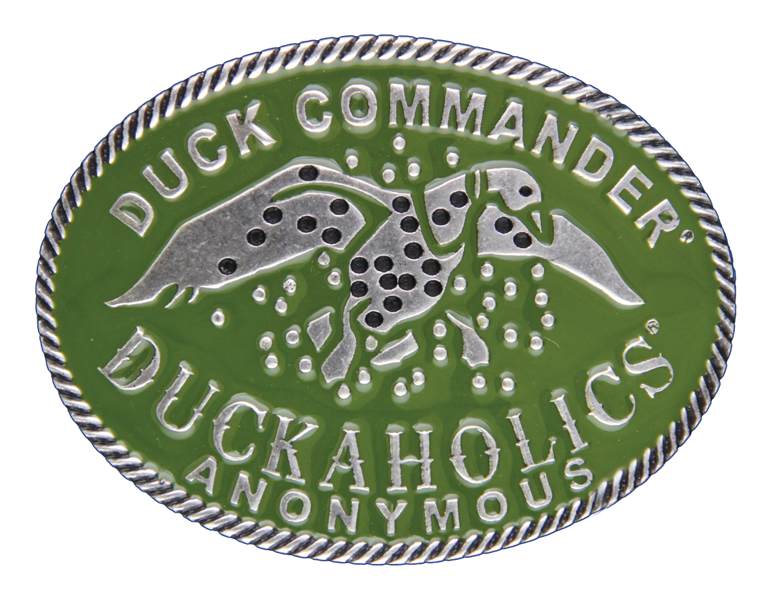 Montana Silversmiths Duck Commander Duckaholics Anonymous Small Oval Attitude Buckle