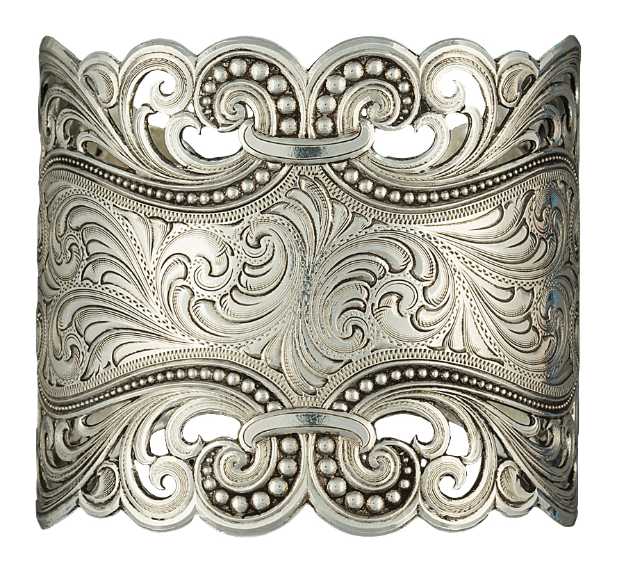 Montana Silversmiths Eddies and Lace Antiqued Silver Cuff Bracelet