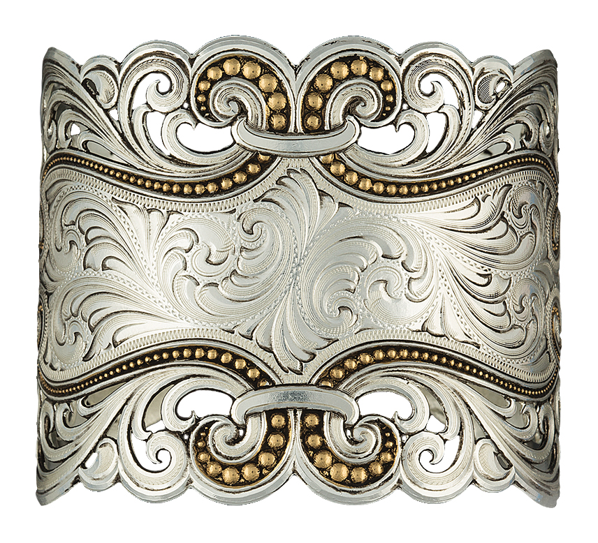 Montana Silversmiths Eddies and Lace Heirloom Gold Cuff Bracelet