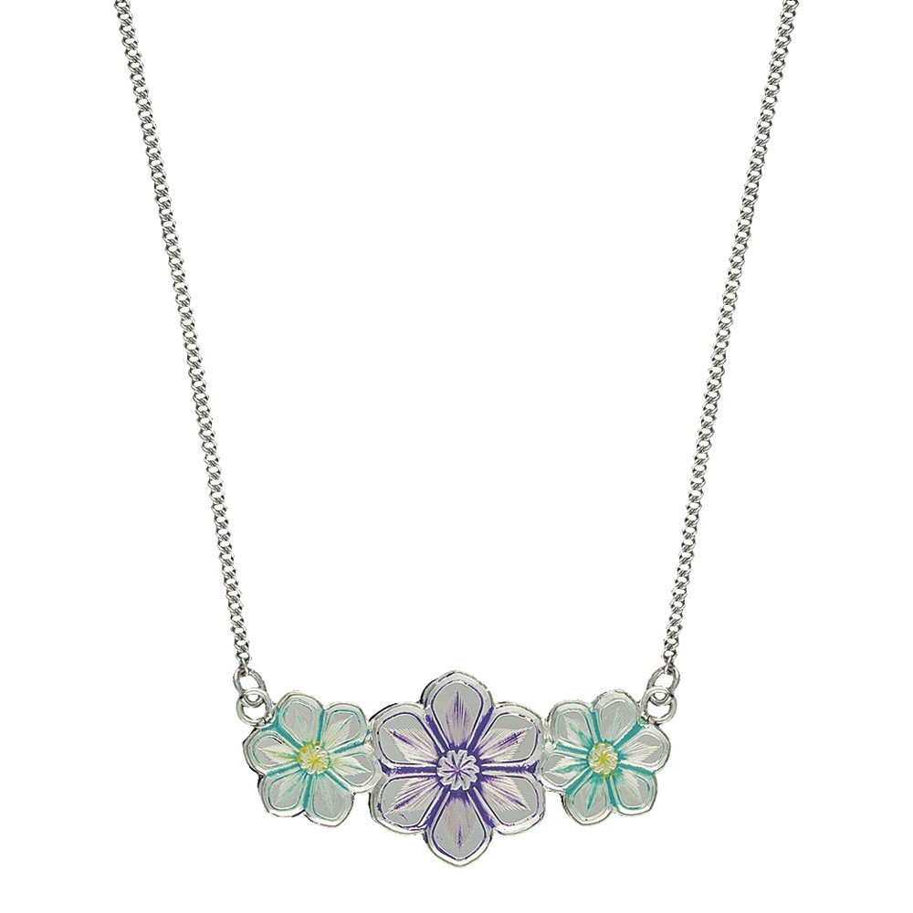 Montana Silversmiths Painted Spray of Daisies Necklace
