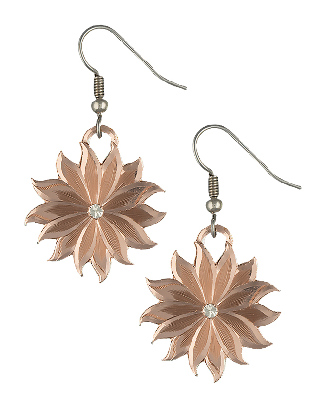 Montana Silversmiths Rose Gold Bitterroot Bloom Drop Earrings