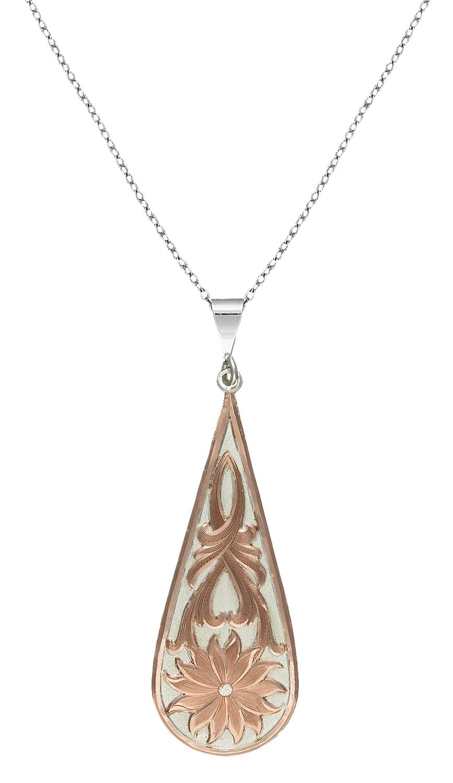 Montana Silversmiths Rose Gold Bitterroot Drop Necklace